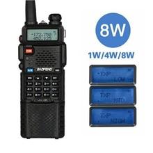 Baofeng UV-5R 8 Вт Тройной 8/4/1 Вт Высокое Мощность 10 км длинная кольцевая двухстороннее радио VHF Любительская рация двойного диапазона с UV5R Портативный иди и болтай Walkie Talkie