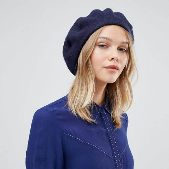 placeholder AWAYTR Women s Hat Fashion Women Beret Cap Winter Warm Wool Hats  Casual French Artist Beanie Hat 3206b3e28a8