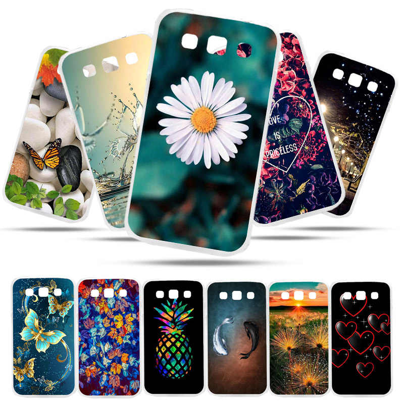 Bolomboy Painted Case For Samsung Galaxy Win I8552 Case Silicone Cases For Samsung i8552 Cover Wildflowers Cute Animal Bag