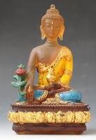 12.5 cm * / Buddha figurige, Bhaisajya Buddha statue Crystal Glass Buddha sta