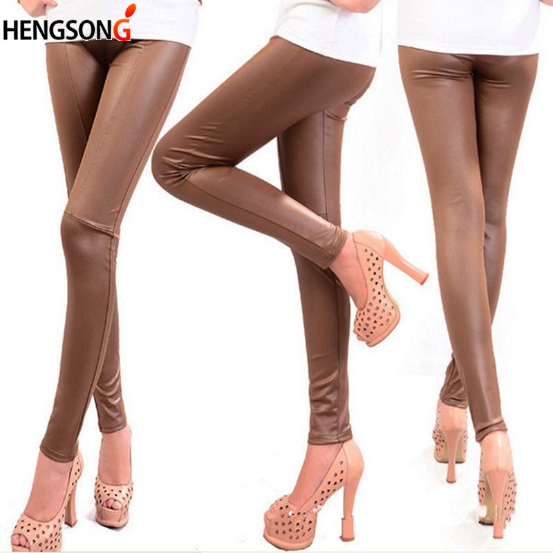 Spring Winter Faux Leather Leggings For Women Lady Leggins Pants New Sexy Fashion Wholesale AY852111
