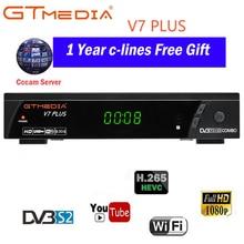 100% оригинал 2018 Новое поступление GTMEDIA V7 плюс DVB-S2 DVB-T2 спутниковый ТВ комбинированный приемник Поддержка H.265 + Испания Италия Cccam 4 Клайн