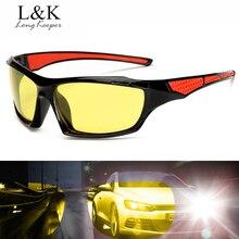 Long Keeper Night Vision Men Sunglasses High Definition Polarized Glasses Yellow Lens Mirror Eyewears Male  oculos de sol KP1019