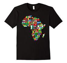 África países bandeira mapa camisa africano-americana festa orgulho verão t camisa marca de fitness corpo construção camiseta superior
