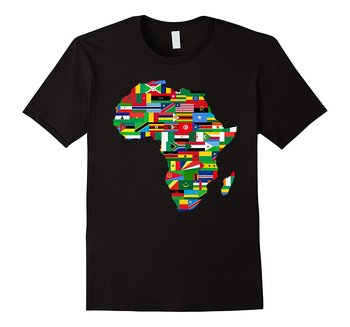 Africa Countries Flag Map Shirt African American Party Pride Summer T Brand Fitness Body Building Top Tees T-Shirt - discount item  51% OFF Tops & Tees
