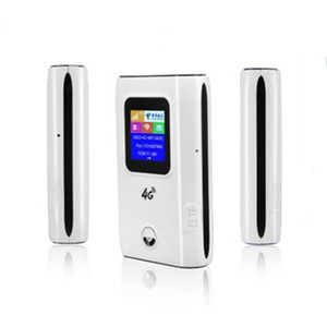 Image 2 - KuWFi 4G LTE راوتر لاسلكي 4G 5200mAH قوة البنك المحمولة واي فاي جهاز توجيه ببطاقة Sim فتحة دعم 10 مستخدمين
