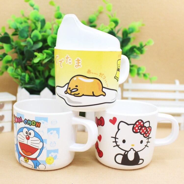Baby Cups Melamine Cartoon Cute Baby Drinkware with Handle Nature safe Material kid drinkware