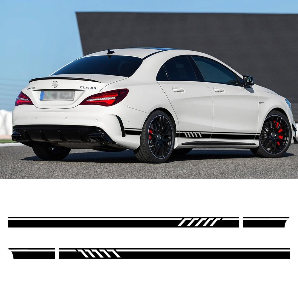 Edición 1 deporte de estilo puerta lado rayas falda etiqueta engomada etiqueta para Mercedes Benz W117 C117 X117 W176 CLA45 CLA200 clase CLA AMG