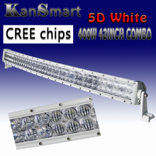 5D LED Combo Light Bar 400W 42Inch White Curved CREE Chips External Lights Offroad Driving Lamp Pick-up ATV SUV 4WD Car Lamps
