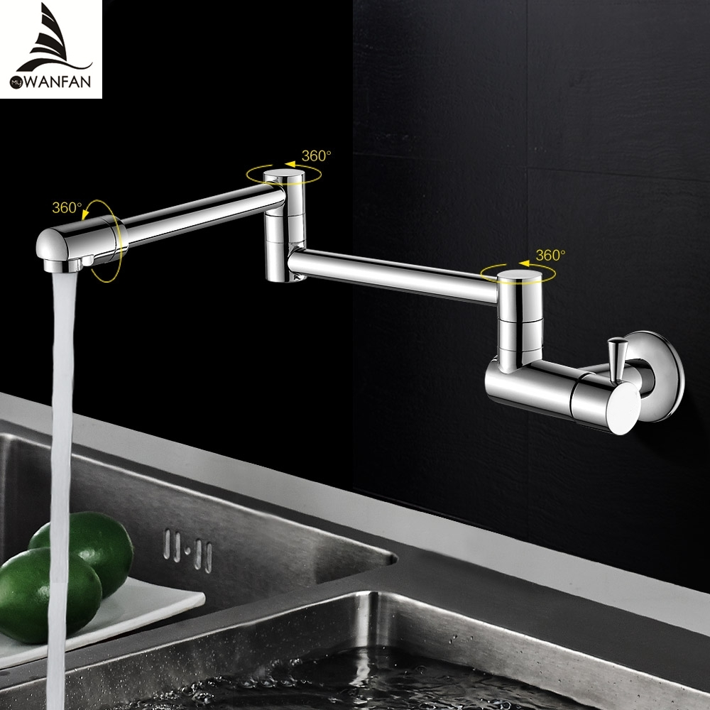 New Brass Kitchen Faucets Chrome Cold Faucet for Kitchen Single ...