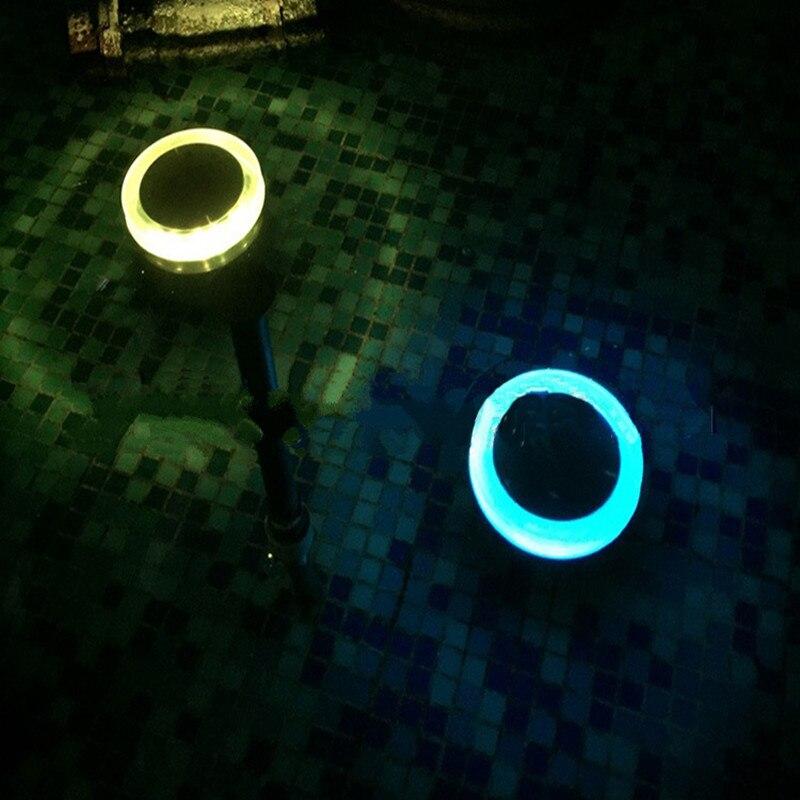 24 led LED Solar Powered Pool Lights Waterproof Outdoor Garden River Pond Lamp Solaris Super Bright Lantern Garland Decoration