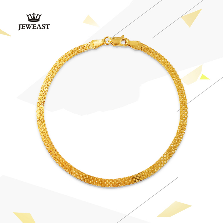 18K Pure Gold Bracelet Real AU 750 Solid Gold Bangle Good Beautiful Upscale Trendy Classic Party Fine Jewelry Hot Sell New 2018 18k pure gold earrings white rose star fine jewelry genuine real 750 solid 2017 hot selling women girl gift trendy party good