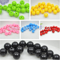 6 colors 20mm Acylic Solid Color Chunky Necklace Loose Beads DIY Fashion Jewelry Findings 10pcs/lot  CH-0914