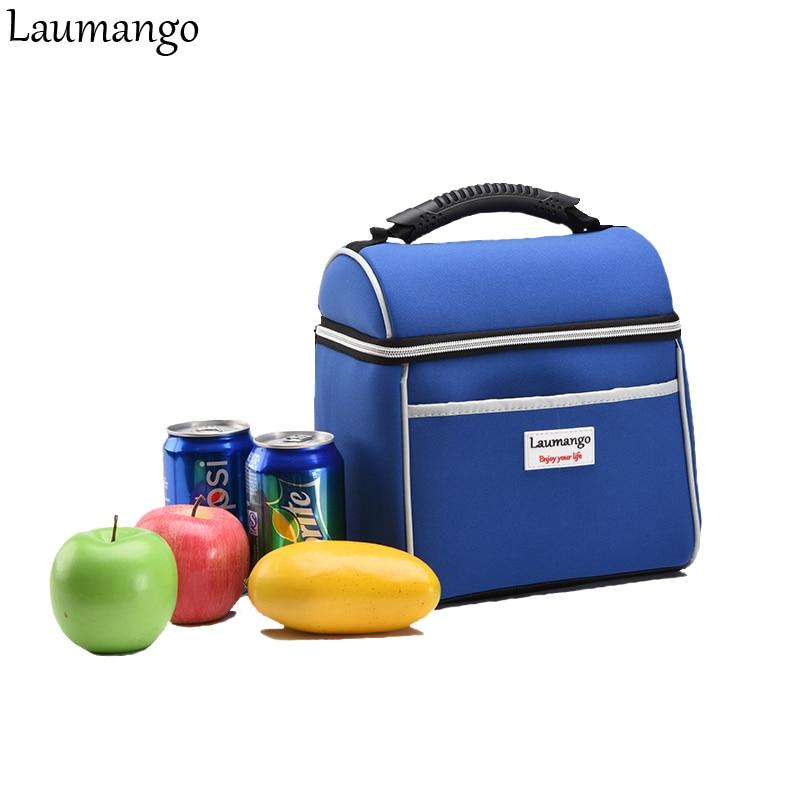 Laumangoถุงเย็นNeopreneฉนวนความร้อนกันน้ำผู้หญิงเด็กผู้ชายกล่องอาหารกลางวันอาหารผลไม้สดปิกนิกกระ...