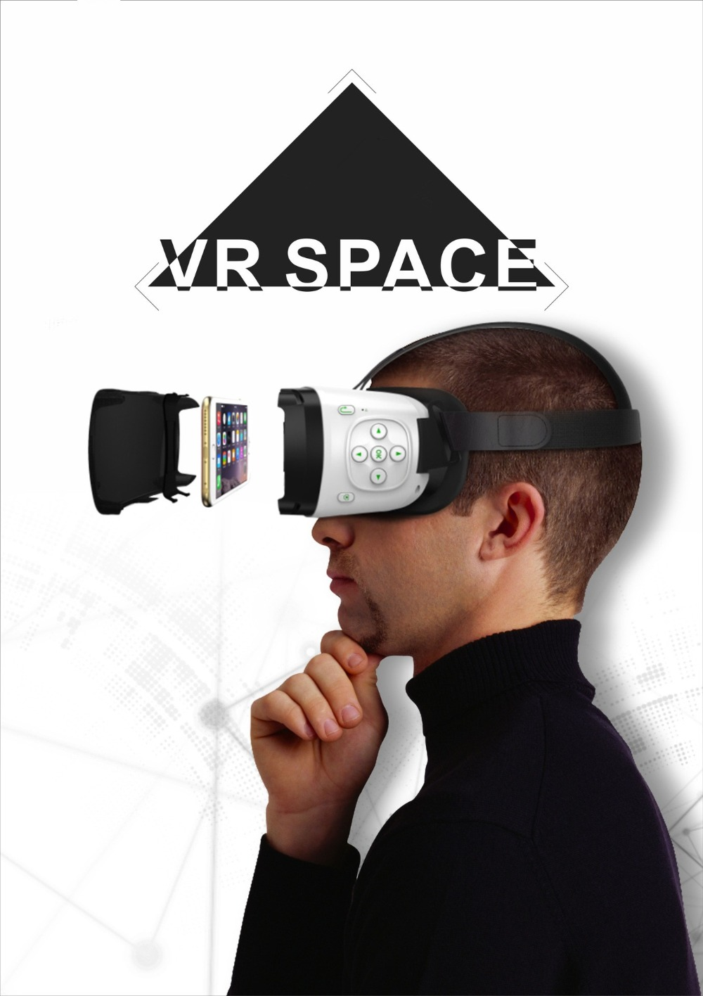 Eye travel VR eye swim a generation of Bluetooth VR virtual reality glasses IOS Android compatible 3D mobile cinema