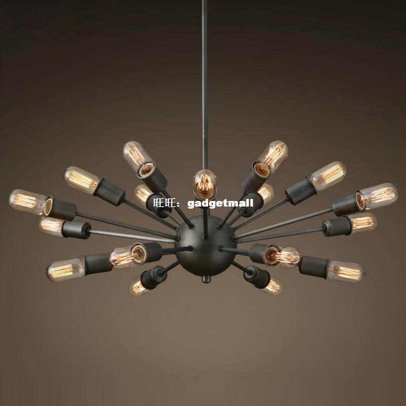 Modern minimalist American country bar designer iron world Nordic loft retro industrial wind flying saucer spider chandelier cs rsp3300 toner laser cartridge for ricoh aficio sp3300d sp 3300d 3300 406212 bk 5k pages free shipping by fedex
