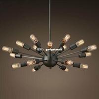 Modern minimalist American country bar designer iron world Nordic loft retro industrial wind flying saucer spider chandelier