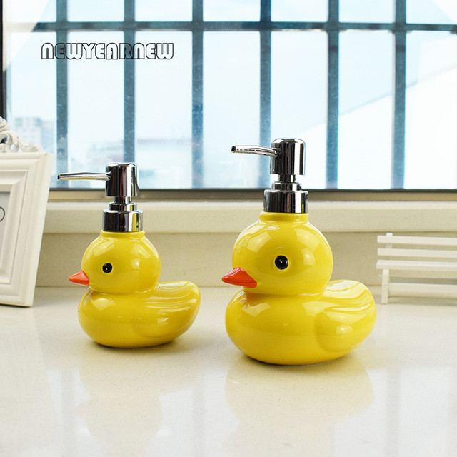 Charmant NEWYEARNEW Duck Ceramic Washing Liquid Bottling Soap Dispenser Emulsion  Creative Bathroom Accessories Set Home Decoration Gift