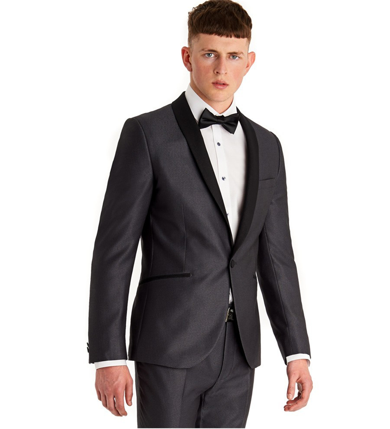 Aliexpress.com : Buy Side Vent Mens Suits Groomsmen Shawl Black ...
