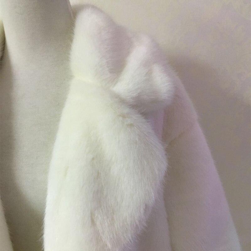 D'hiver Survêtement red Chaud Bal Vison En À black Épaisse Veste Manches Sun66 Haute Manteau Fausse Longues Imitation Fourrure pink Mode gray Femmes Longue Wihte De d5A1AKr