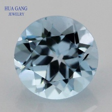Gemstone Facetted-Cut Topaz Jewelry-Making Natural for DIY Sky-Blue Size-1.0--10mm Round-Shape