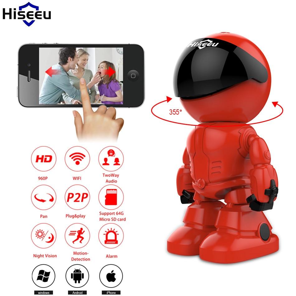 где купить 960P 1.3MP HD Security Camera Wireless IP Camera Wifi Robot Night Vision Network Camera CCTV Support Two-way Audio Hiseeu 40 по лучшей цене