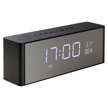 abuzhen bluetooth speaker receiver with fm alarm clock and with super bass for phone and computer