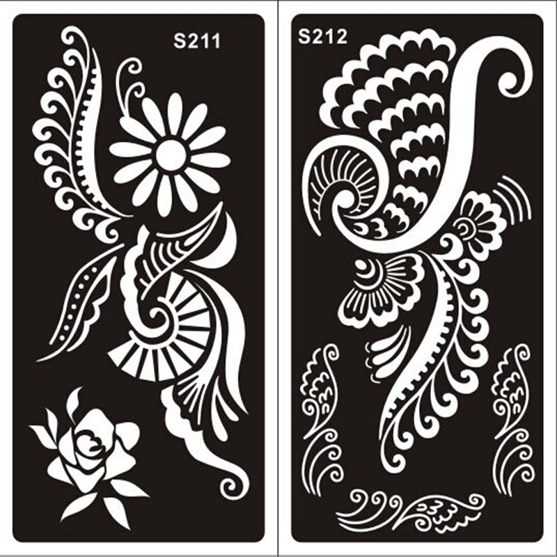 Xmasir 20pcs Indian Henna Tattoo Stencils Temporary