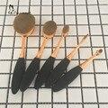 5 UNIDS Oval Forma Maquillaje Cosmético Del sistema de Cepillo cepillo de Dientes Profesional Soplo de Polvo Colorete Fundación Sombra de Ojos Pinceles de Maquillaje