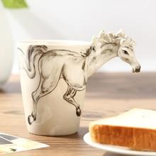 Kreative Nette 3D Tiere Drinkware Keramik Porzellan handbemalte Kaffee Tee Milch Wasser Trinkbecher 370 ml Liebhaber der Geschenk Tasse