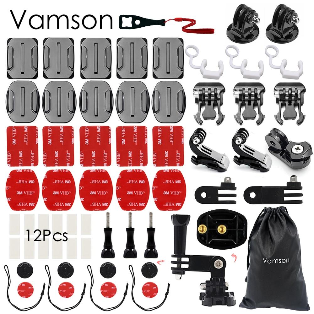Vamson for Gopro Hero 5 Accessories Kit practical Adapter Mount For Gopro Hero 5 4 3 for Xiaomi for SJCAM VS90 bike handlebar clamp roll bar mount with mount adapter for gopro hero 2 3 3 plus 4 xiaomi yi sj4000 sj5000 sjcam