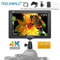 Feelworld FH7 7 inch IPS 4K HDMI DSLR Camera Field Monitor Full HD 1920x1200 LCD External Display for Canon Sony Nikon Cameras