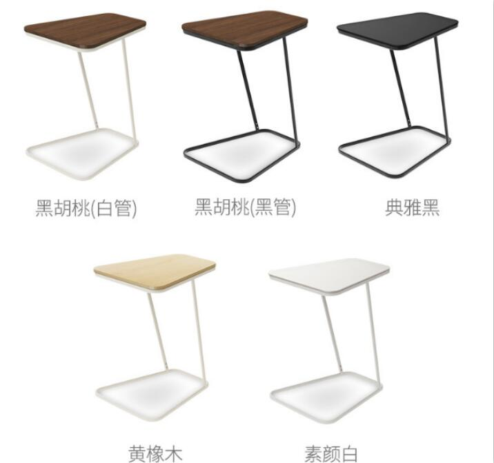 Tempered glass bedside table Creative Coffee Table Living room Side tables rattan square dining tables with cushion and tempered glass