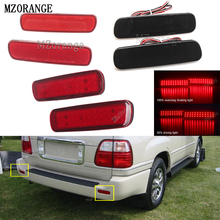 MZORANGE 2PCS LED Rear Bumper Reflector Light Tail Brake Stop DRL Fog Light Lamp For Toyota Land Cruiser/For Lexus LX470 Lantern григорьев г григорьева л сост павел петрович бажов письма 1911 1950