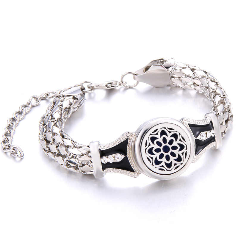 Kaleidoscope Perfume Aroma Diffuser Bracelet Stainless Steel Charm Fashion Aromatherapy Essential Oil Diffuser Bracelet Jewelry