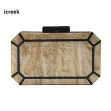 Дизайнерский кошелек женская сумка-мессенджер акриловые вечерние роскошные сумки для выпускного вечера Милая однотонная вечерняя мини-сумочка перламутровый блеск клатч кошелек