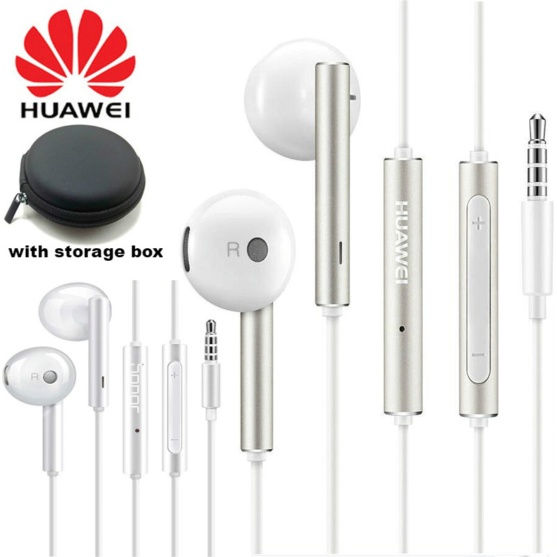 Original Huawei AM116 Honor AM115 Earphone wired 3.5mm In-Ear Headset Mic Volume Control For samsung xiaomi SONY Smartphones(China)