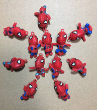 12pcs/lot 2-4cm Japanese anime figure mini the avanger spiderman action figure collectible model toys for boys(China)