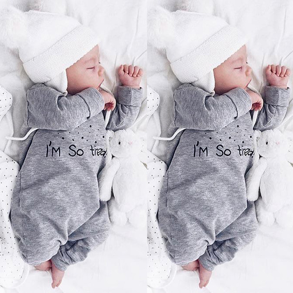 95cd01caf4cfd 2018 Autumn Winter Newborn Infant Baby Boy Girl Letter Romper ...