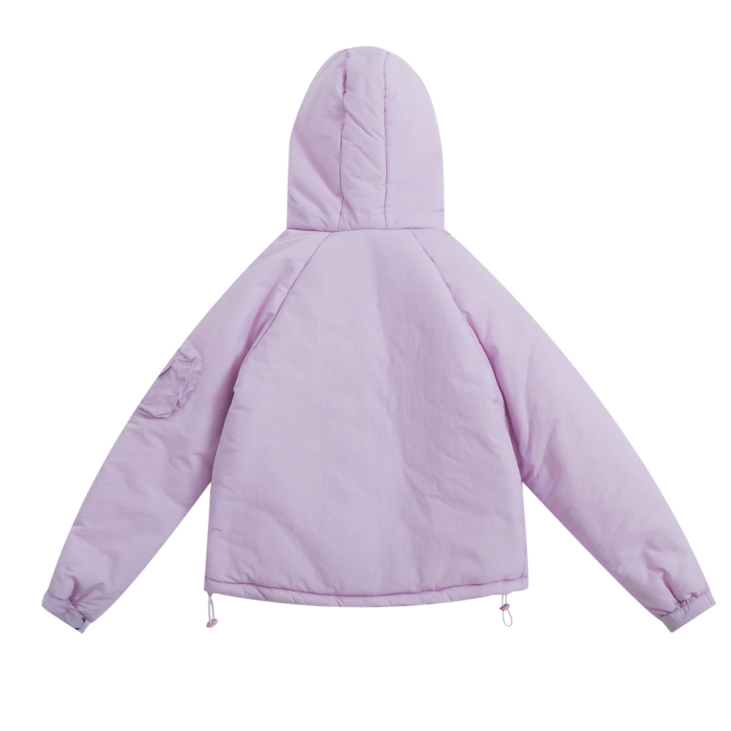 À Vestes Lapin Preppy De Col Femmes Cravate D'hiver Pink Style Purple Doux Chaud Épais Dames Outwear Parkas Manteau Fourrure Fille Capuchon Manteaux Up 5qxSfwapwU