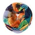 Плед бесконечности шарф женщины schal бандана граффити хиджаб cachecol feminino шотландка платки обернуть полосой шарфы bufandas cachecol