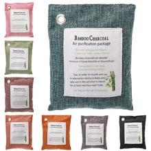 Новинка, 5 упаковок, натуральный очиститель воздуха, бамбуковый уголь, сумка для дома, автомобильный очиститель, освежитель 15*19 см