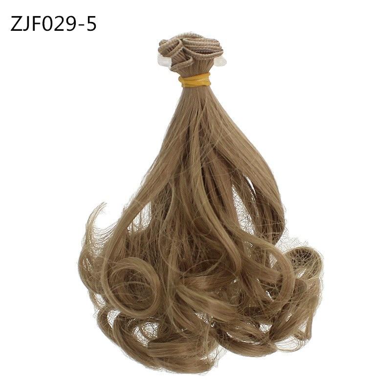 15cm DIY Mini Doll Wig High-Temperature Material Pear flower curls Hair Wig