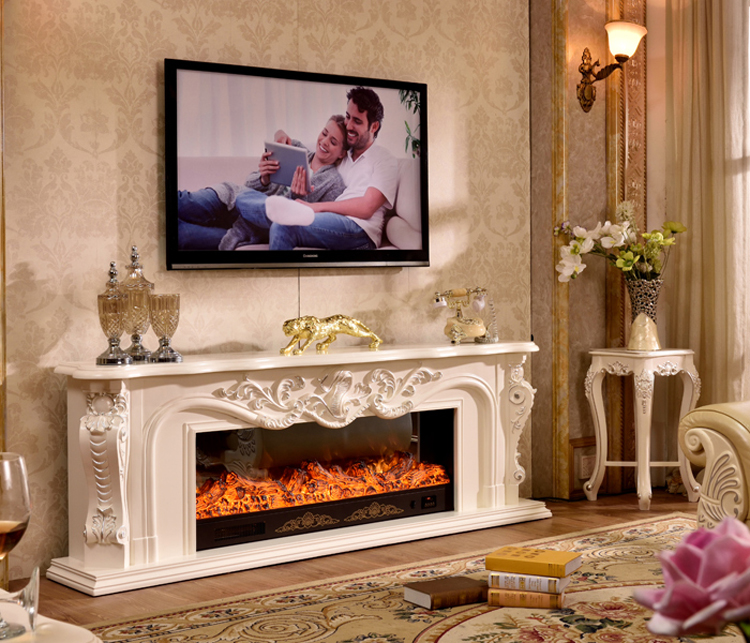 Living Room Decorating Warming Fireplace Wooden Fireplace Mantel