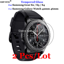2Pcs For Samsung Gear S3 S4 S2 Classic Tempered Glass 9H 2.5D Premium Screen