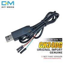 Original CH340G CH340 Download Line Cable USB to TTL Serial Wire Adapter Compatible WIN7 8 10 For Arduino for Raspberry Pi
