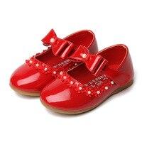 פניני Fahsion בנות ילדי נעליים אחת נעלי תינוק נעלי נסיכת בנות Bowtie ילדים נעליים לבנות ביצועים דירות C552