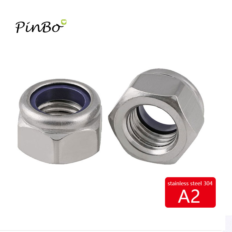 #4-40 Nylon Inserted Lock Nut Stainless Steel A2 304 18-8