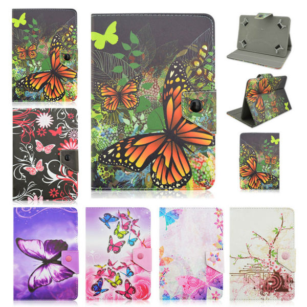 For Explay Surfer 10.11 10.1 inch Universal Tablet butterfly Leather Cover Case Android 10 inch Tablet+Center Film+pen KF492A case cover for goclever quantum 1010 lite 10 1 inch universal pu leather for new ipad 9 7 2017 cases center film pen kf492a