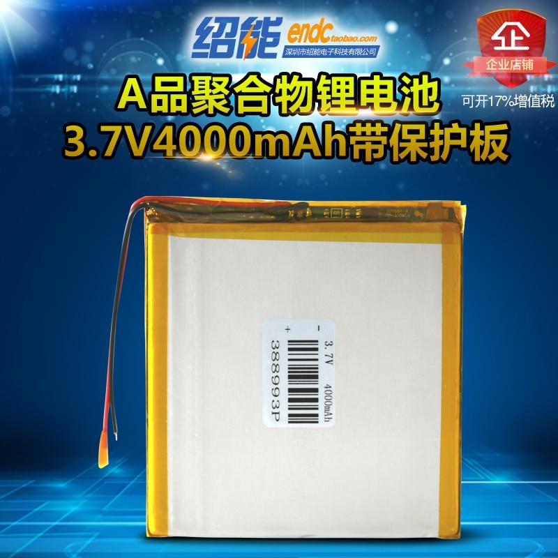 3.7V explosion proof polymer lithium battery 388993 4000mAh luminous medical equipment blood glucose analyzer Li-ion Cell